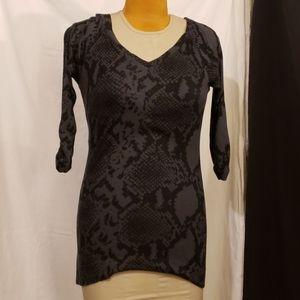 Express dress gray snakeskin pattern very Sexy!